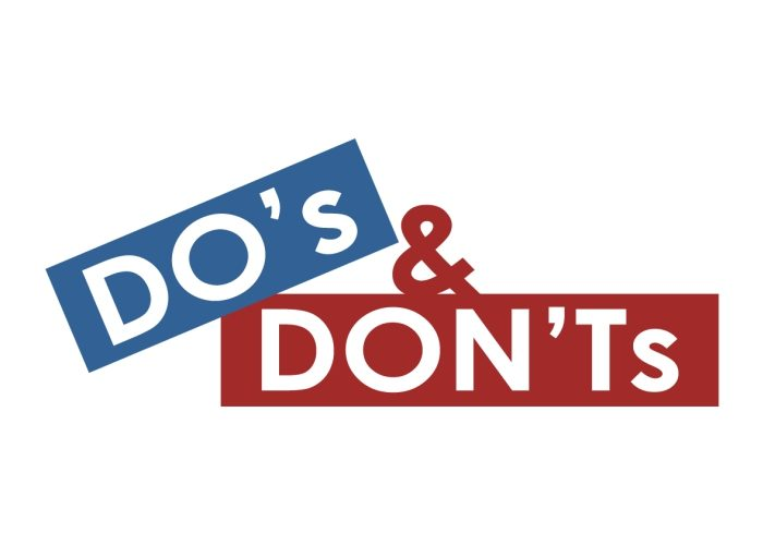 Compliance - Do's and Don'ts